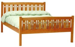Macintosh platform bed high footboard