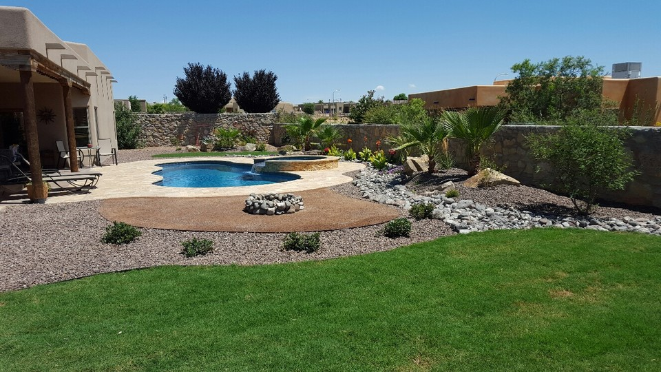 Complete Backyard Design With Pool And Landscape Package Pools