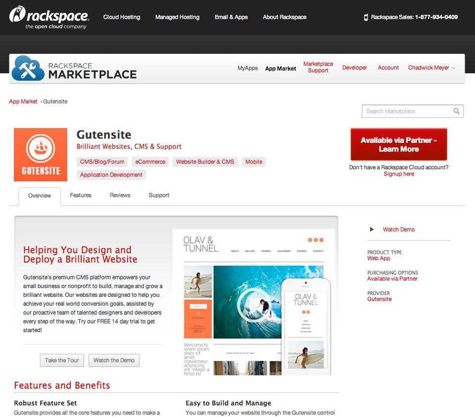 Gutensite Primary CMS for Rackspace Marketplace | Gutensite